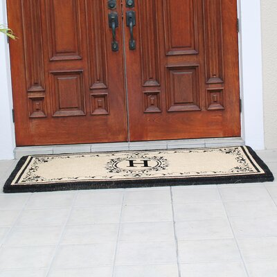 Hedvige Estate Anti Shred Monogrammed Double Doormat Letter : H