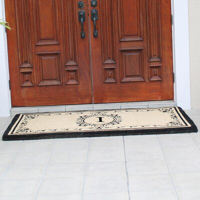 Hedvige Estate Anti Shred Monogrammed Double Doormat Letter : I