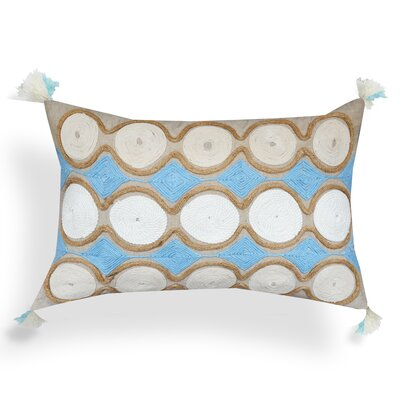 Claridge Geometric Spiral 100% Cotton Lumbar Pillow