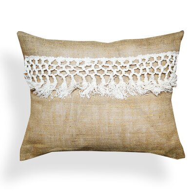 Bouziane Lace 100% Jute Lumbar Pillow