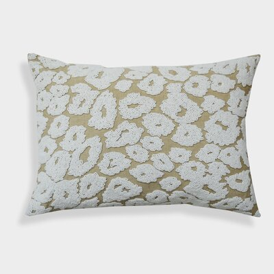 Pensee Bead-work 100% Cotton Lumbar Pillow