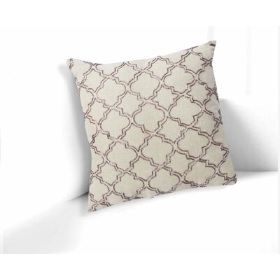 Elba Ogee Geometric 100% Linen Throw Pillow