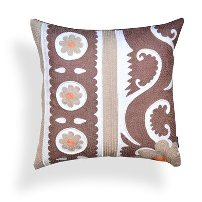 Aja Embroidered 100% Cotton Throw Pillow