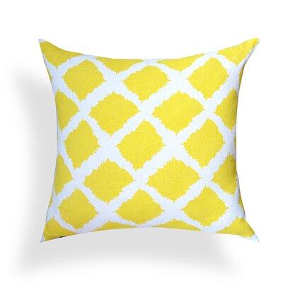 Nebeker Sunflower Print 100% Cotton Throw Pillow