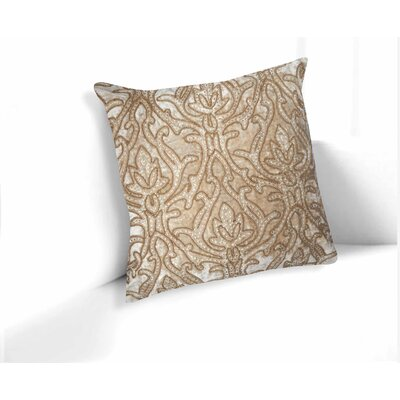 Raeann Floral-Embroidered 100% Cotton Velvet Throw Pillow