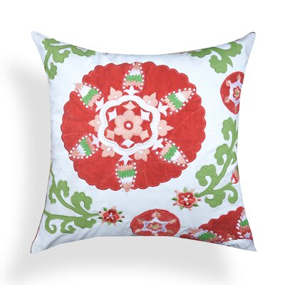 Floral 100% Cotton Throw Pillow