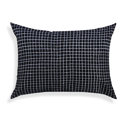 Grigori Grid 100% Cotton Lumbar Pillow