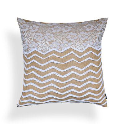 Ludovic Chevron 100% Jute Throw Pillow