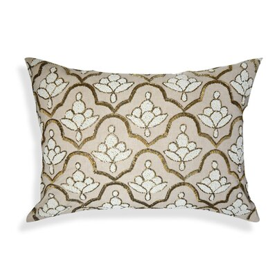 Ivanbrook Floral Embroidered 100% Cotton Lumbar Pillow