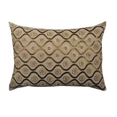 Ester Floral Embroidered 100% Cotton Lumbar Pillow