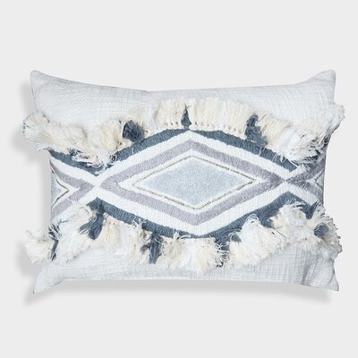 Clarens Geometric Moroccan 100% Cotton Lumbar Pillow