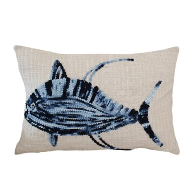 Teakwood Ombre Fish 100% Cotton Lumbar Pillow