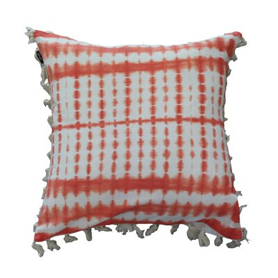Claremont Tie-Dye with Fringes 100% Cotton Throw Pillow