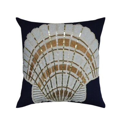 Hawthorne Shell Patchwork Cotton Throw Pillow