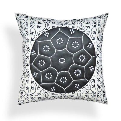 Nawrocki Geometric-Floral Throw Pillow
