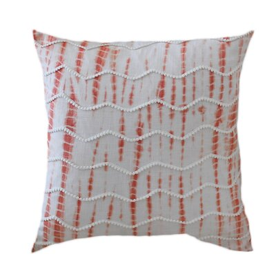 Chevron Alina 100% Cotton Throw Pillow Color: Orange/White