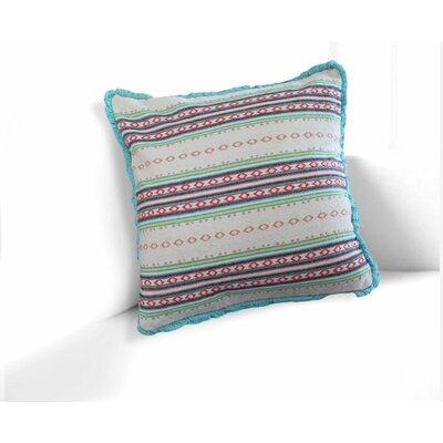 Clairsville Multicolored Tribal Pattern 100% Cotton Throw Pillow