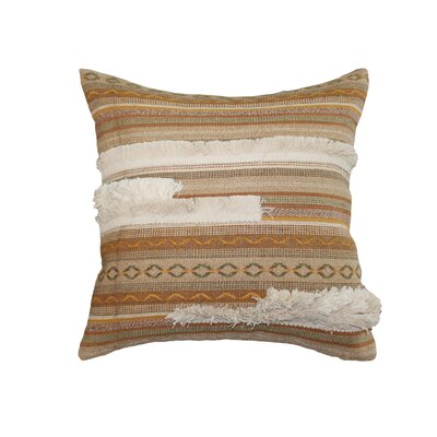 Dennis Geometric with Fringes 100% Cotton Throw Pillow