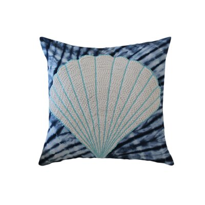 Creighton Tie and Die Shell 100% Cotton Throw Pillow Color: Blue