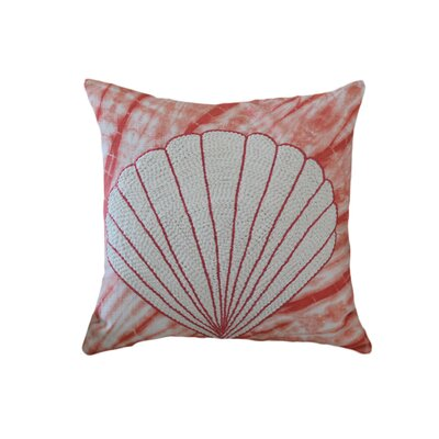 Creighton Tie and Die Shell 100% Cotton Throw Pillow Color: Orange