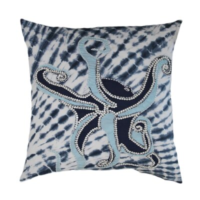 Brimfield Octopus Tie-Dye 100% Cotton Throw Pillow
