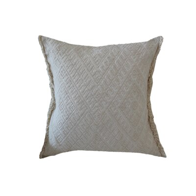 Lunaire Embroidered Geometric 100% Cotton Throw Pillow