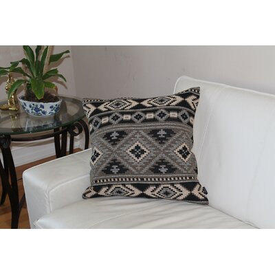Drew Embroidered Geometric 100% Cotton Throw Pillow