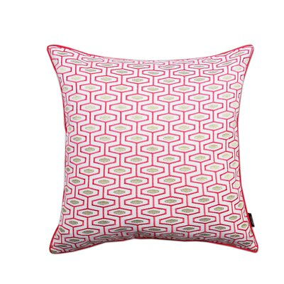 Berkley Geometric 100% Cotton Throw Pillow Color: Red