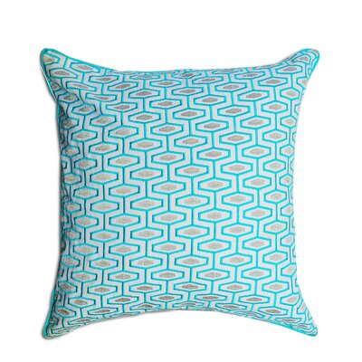 Berkley Geometric 100% Cotton Throw Pillow Color: Blue