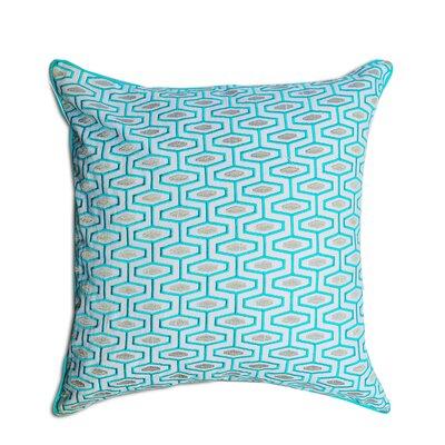 Berkley Geometric 100% Cotton Throw Pillow Color: Blue