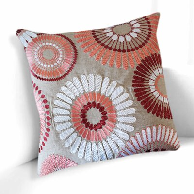 Talia Cotton Throw Pillow Color: Pink/Beige