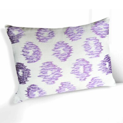 Michels Embroidered Ikat 100% Cotton Lumbar Pillow