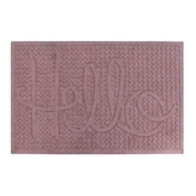 Dionysius Hello Eco-Poly Indoor/Outdoor Doormat Color: Light Brown