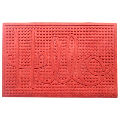 Dionysius Hello Eco-Poly Indoor/Outdoor Doormat Color: Red