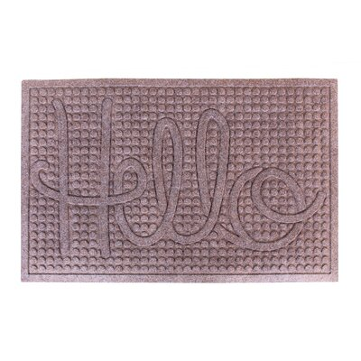 Dionysius Hello Eco-Poly Indoor/Outdoor Doormat Color: Classic Brown