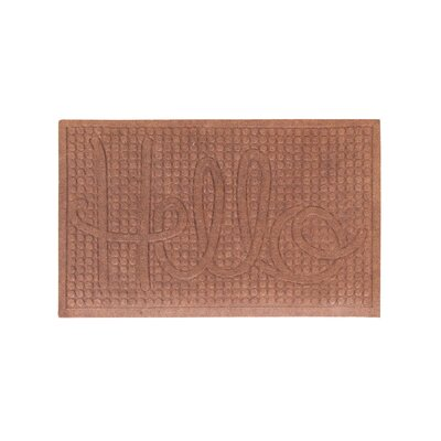 Dionysius Hello Eco-Poly Indoor/Outdoor Doormat Color: Dark Brown