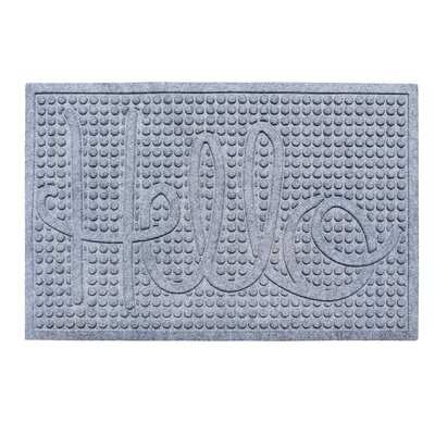 Dionysius Hello Eco-Poly Indoor/Outdoor Doormat Color: Medium Gray