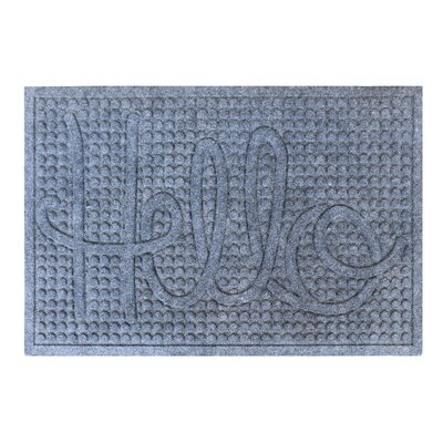 Dionysius Hello Eco-Poly Indoor/Outdoor Doormat Color: Dark Gray