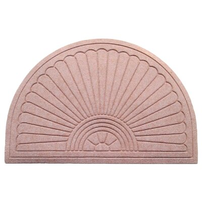 Albertina Sunburst Half -Round Eco-Poly Indoor/Outdoor Doormat Color: Light Brown