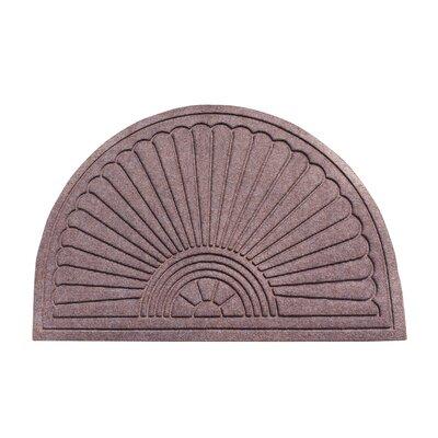 Albertina Sunburst Half -Round Eco-Poly Indoor/Outdoor Doormat Color: Classic Brown