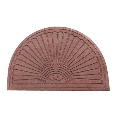 Albertina Sunburst Half -Round Eco-Poly Indoor/Outdoor Doormat Color: Dark Brown