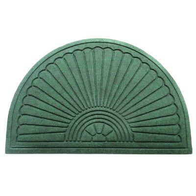 Albertina Sunburst Half -Round Eco-Poly Indoor/Outdoor Doormat Color: Green