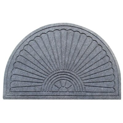 Albertina Sunburst Half -Round Eco-Poly Indoor/Outdoor Doormat Color: Dark Gray