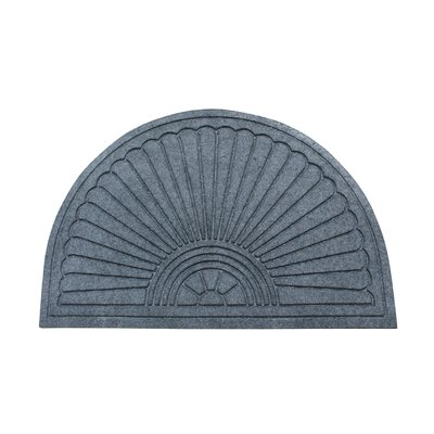 Albertina Sunburst Half -Round Eco-Poly Indoor/Outdoor Doormat Color: Charcoal Gray
