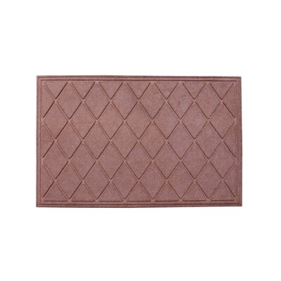 Albertina Diamond Eco-Poly Indoor/Outdoor Doormat Color: Light Brown