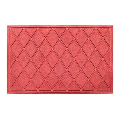 Albertina Diamond Eco-Poly Indoor/Outdoor Doormat Color: Red