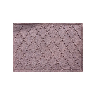 Albertina Diamond Eco-Poly Indoor/Outdoor Doormat Color: Classic Brown
