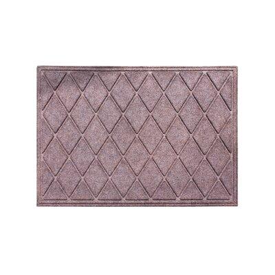 Albertina Diamond Eco-Poly Indoor/Outdoor Doormat Color: Classic Brown