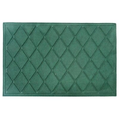 Albertina Diamond Eco-Poly Indoor/Outdoor Doormat Color: Green