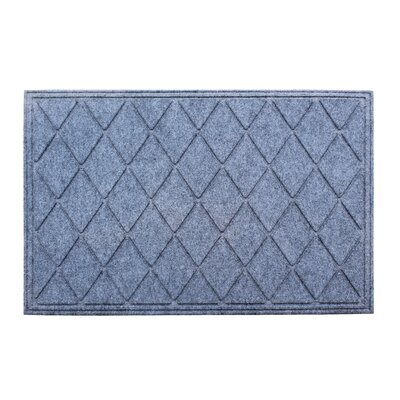 Albertina Diamond Eco-Poly Indoor/Outdoor Doormat Color: Medium Gray
